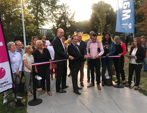 Inauguration du réaménagement du square Brieussel-Bourgeois à Mantes-la-Jolie