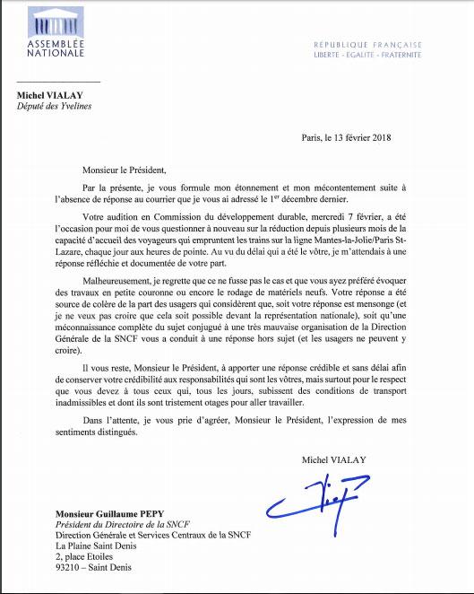 Ma Lettre De Relance Que J Ai Adressee A Monsieur Guillaume Pepy