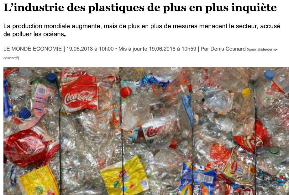 Mon amendement inquiète l'industrie du plastique
