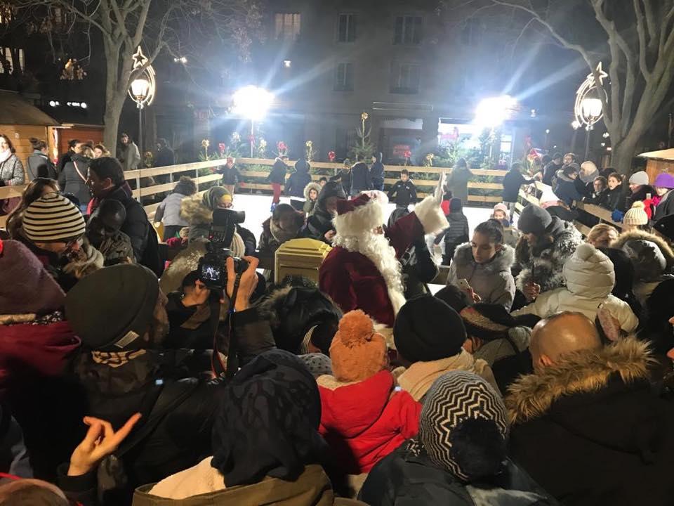 Inauguration Marché de Noël à Mantes-la-Jolie