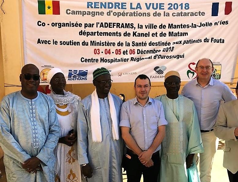 Inauguration de l'opération massive de la cataracte cécitante à Ourosogui au Sénégal
