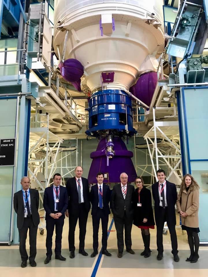 Avec François-Xavier Bellamy, visite de l'usine d'Ariane Group aux Mureaux