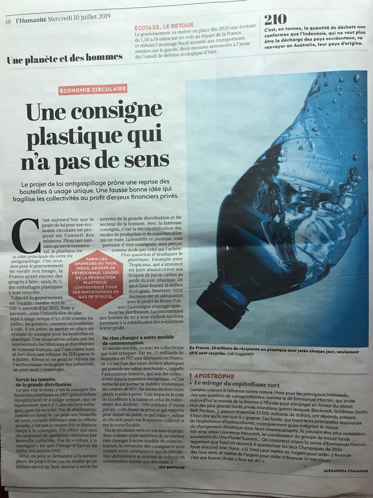 Le plastique, c'est dramatique pour notre santé !