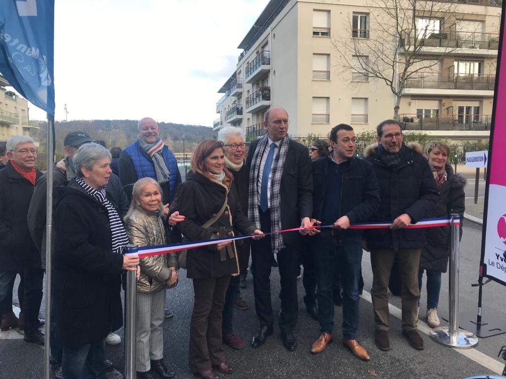 Inauguration de la nouvelle piste cyclable réalisée rue Castor