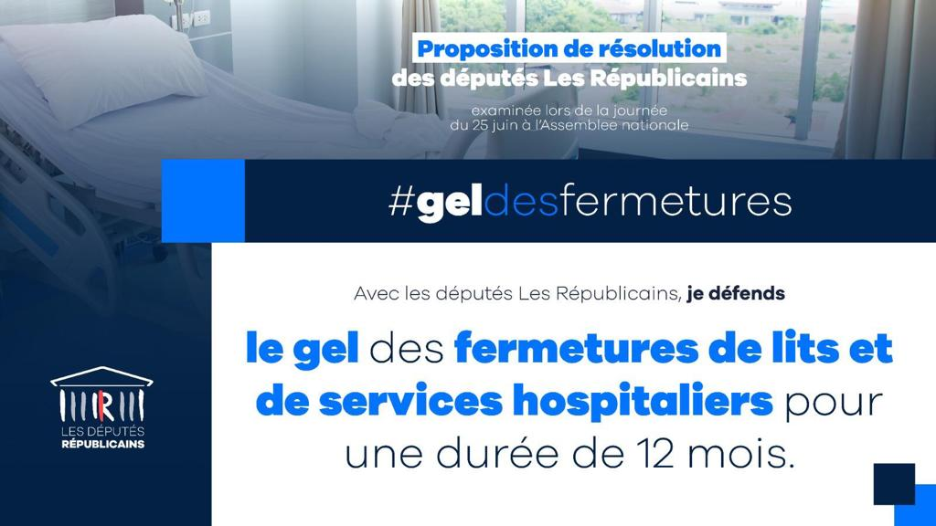 Geler les fermetures de lits et de services hospitaliers pour une durée de 12 mois