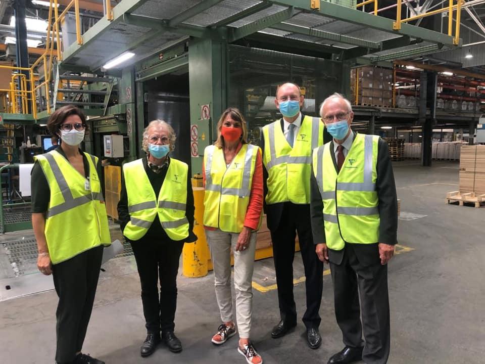 Visite de l'usine Clairefontaine à Étival-Clairefontaine, dans les Vosges