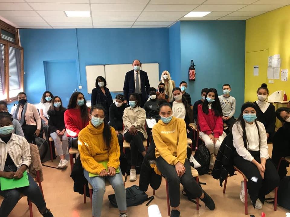 Echanges avec une classe de 3ème du collège Pasteur de Mantes-la-Jolie